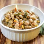 Slow Cooker Sage and White Bean Soup