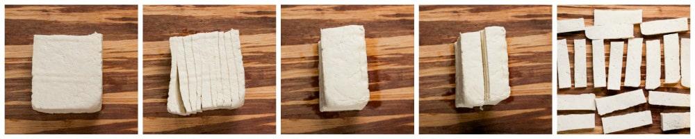 Crispy Sesame-Tofu Salad w/ Miso Dressing- via veggiechick.com #vegan #vegetarian #cleaneating #glutenfree