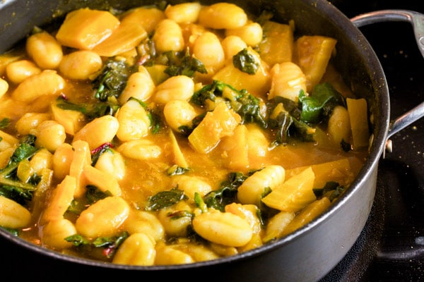 Curried Gnocchi with Golden Beets via veggiechick.com #vegan