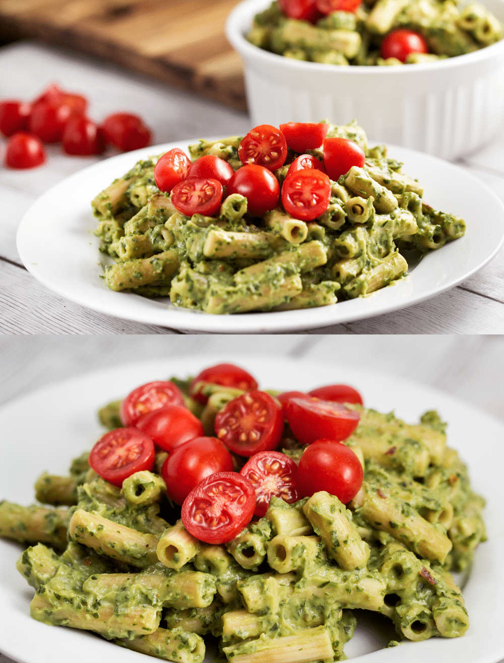 Avocado Cream Penne with Herbs- Veggie Chick Recipes