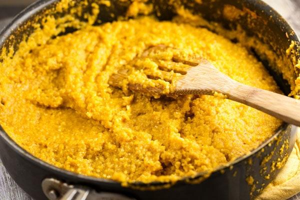 Amazing Polenta with Creamy Artichoke Pesto via veggiechick.com #vegan #glutenfree