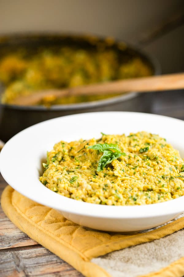 Amazing Polenta with Creamy Artichoke Pesto via veggiechick.com #vegan #glutenfree