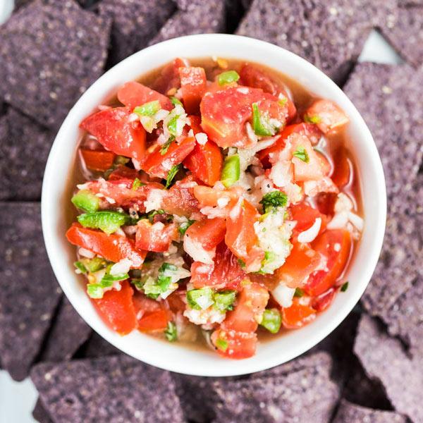 Key Lime Pico de Gallo via veggiechick.com #vegan #appetizer #healthy