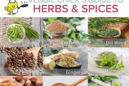 Veggie Chick's Guide to Herbs & Spices via veggiechick.com