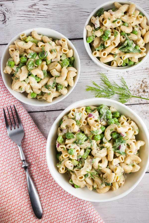 Dairy-free macaroni salad via veggiechick.com #vegan