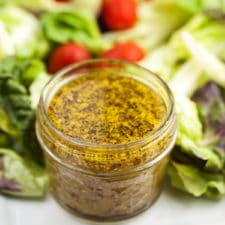 Sweet Mustard Salad Dressing via veggiechick.com #vegan