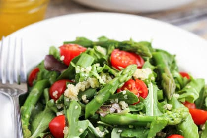 Quinoa-Asparagus Salad with Balsamic-Tangerine Dressing