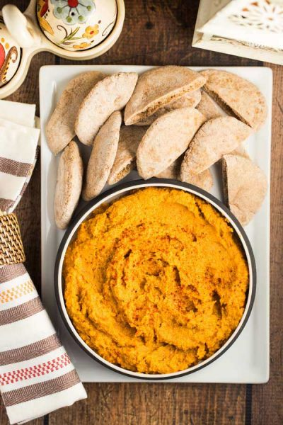 Sweet Potato and Roasted Red Pepper Hummus