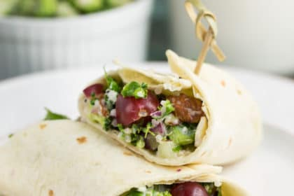 Broccoli-Quinoa Wraps | via veggiechick.com #vegan #glutenfree