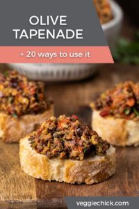 Olive Tapenade spread on slices of French bread