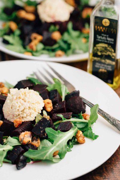 Truffle Beet Salad | via veggiechick.com #vegan #glutenfree