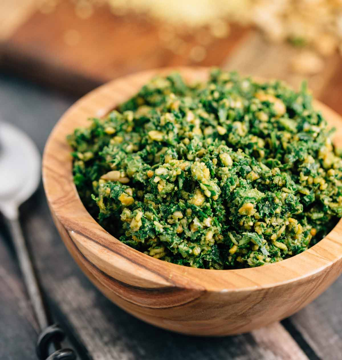 Kale & Sunflower Seed Pesto (Vegan, Gluten Free)