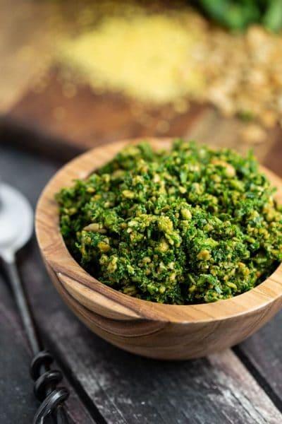 Kale and Sunflower Seed Pesto