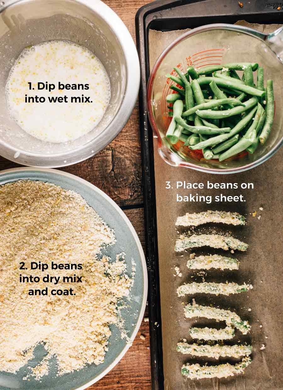 Panko Crusted Green Beans | via veggiechick.com #vegan #glutenfree