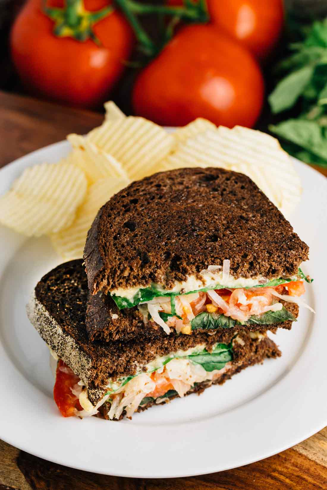 Veggie Reuben Sandwich | via veggiechick.com #vegan, glutenfree