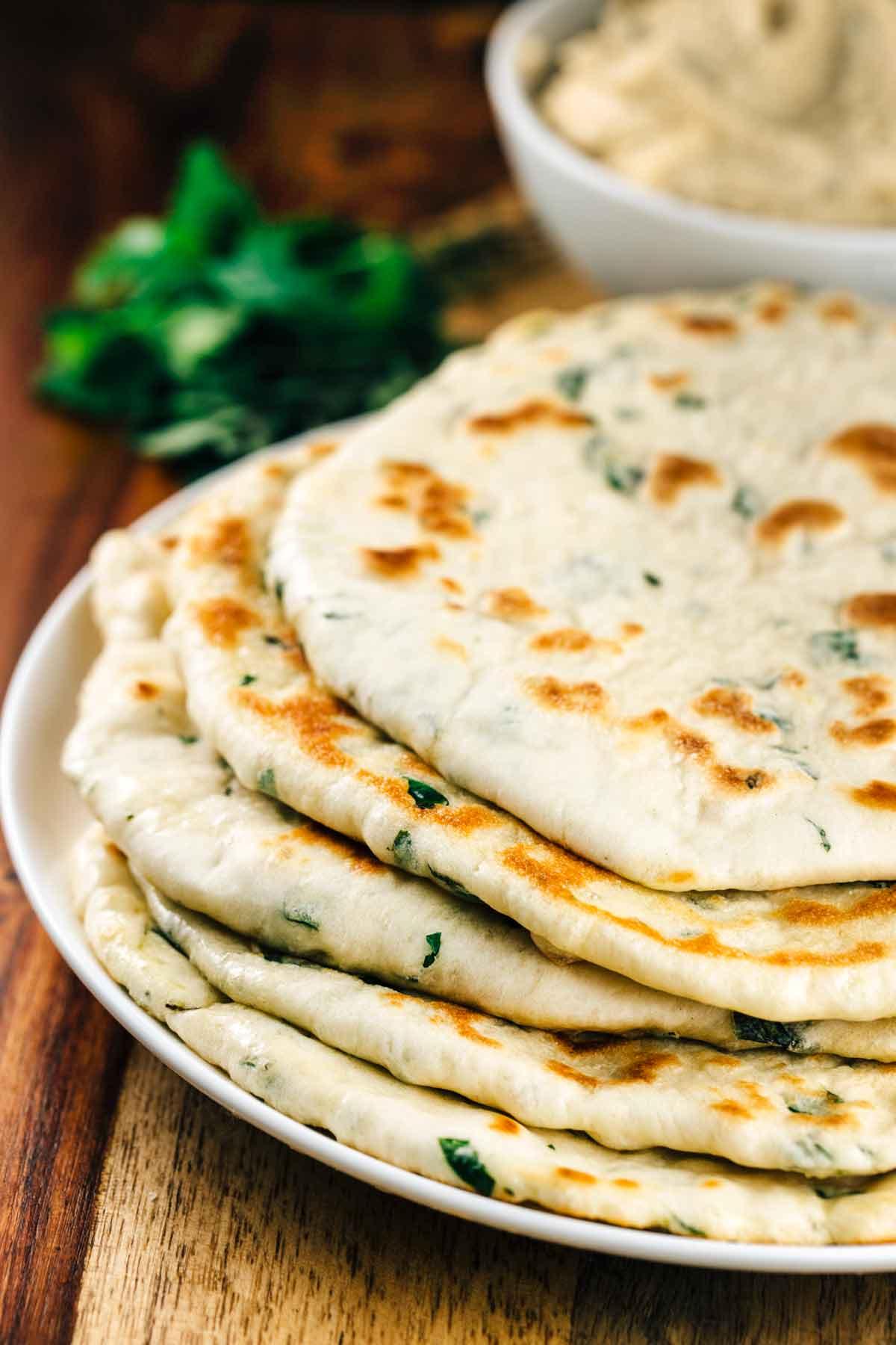 Herbed Flatbread | via veggiechick.com #vegan