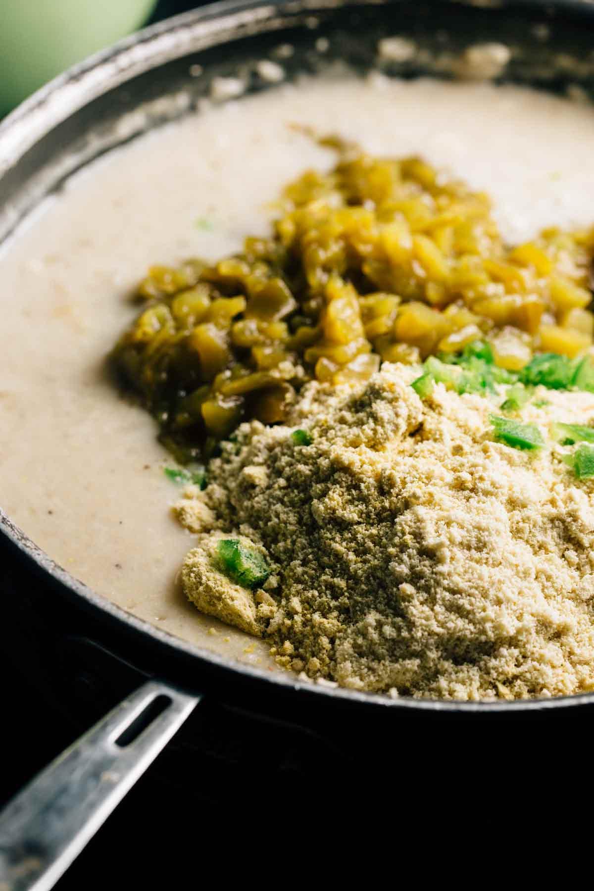 Green Chile Mac and Cheese   via veggiechick.com #vegan #glutenfree