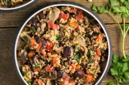 Mediterranean Wild Rice with Pine Nut Cheese | via veggiechick.com #vegan #oilfree