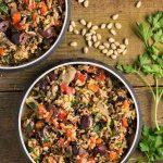Mediterranean Wild Rice with Pine Nut Cheese