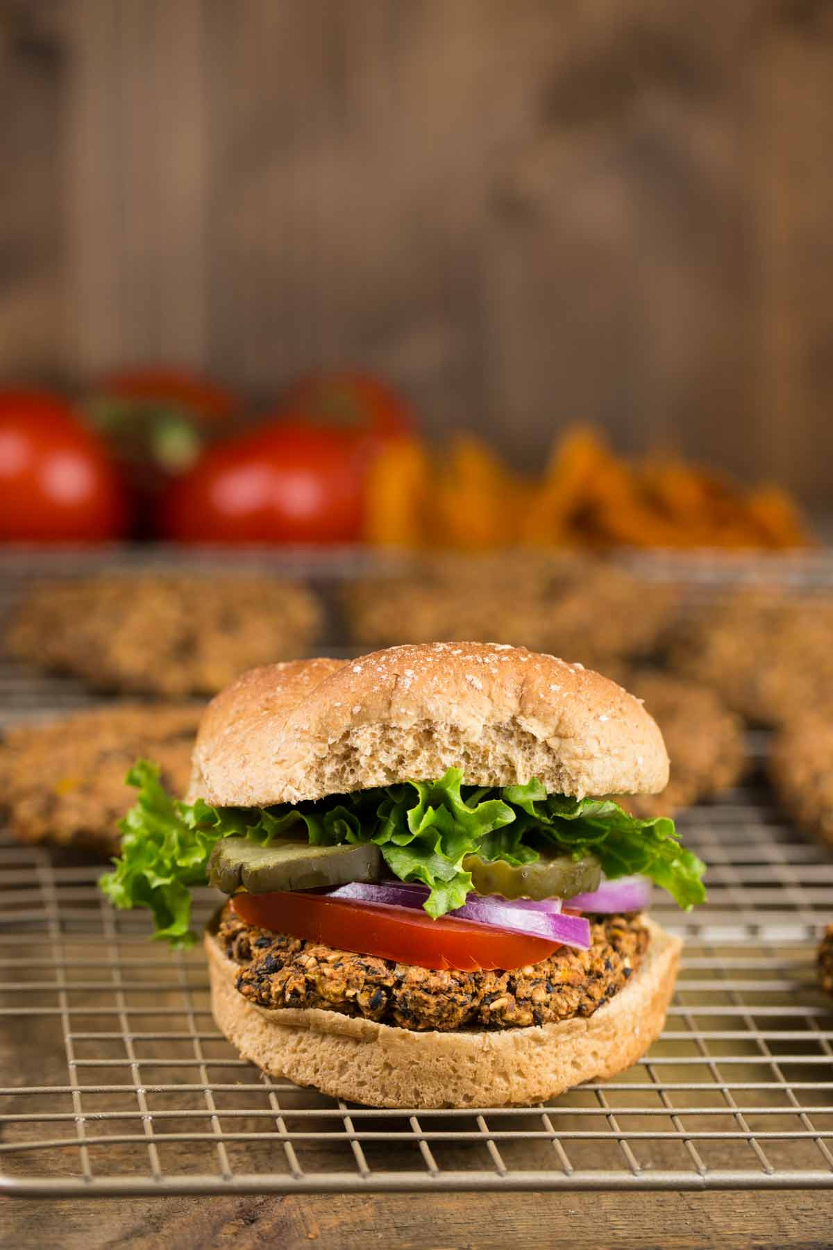Black Bean Oat Burgers | via veggiechick.com #vegan #oilfree