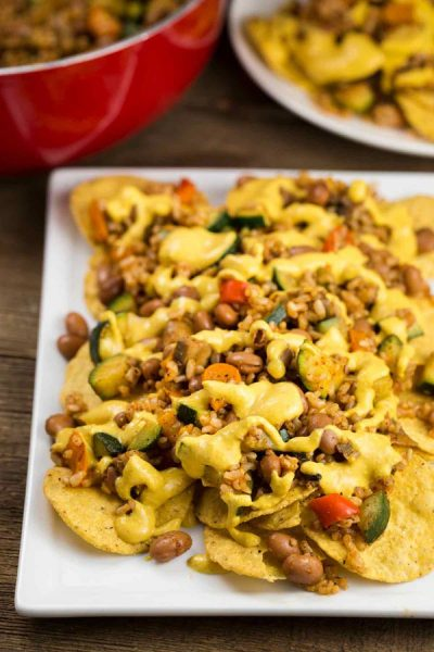 Vegan Nachos with Queso