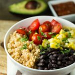 Mexican Black Bean Bulgar Bowl