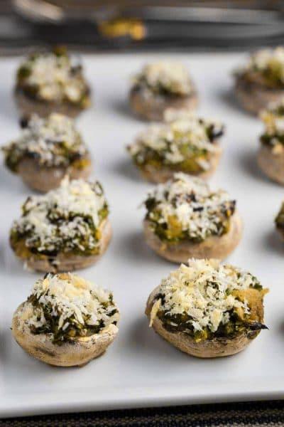 Pesto Stuffed Mushrooms