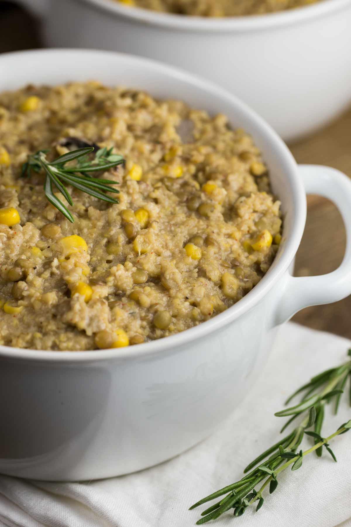 Instant Pot Vegan Shepherds Pie   via veggiechick.com #vegan #oilfree