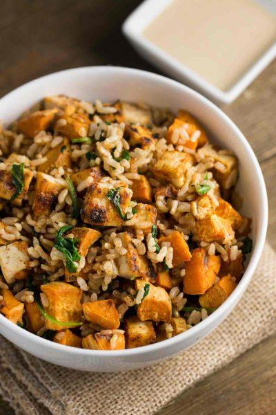 Tofu Sweet Potato Bowl