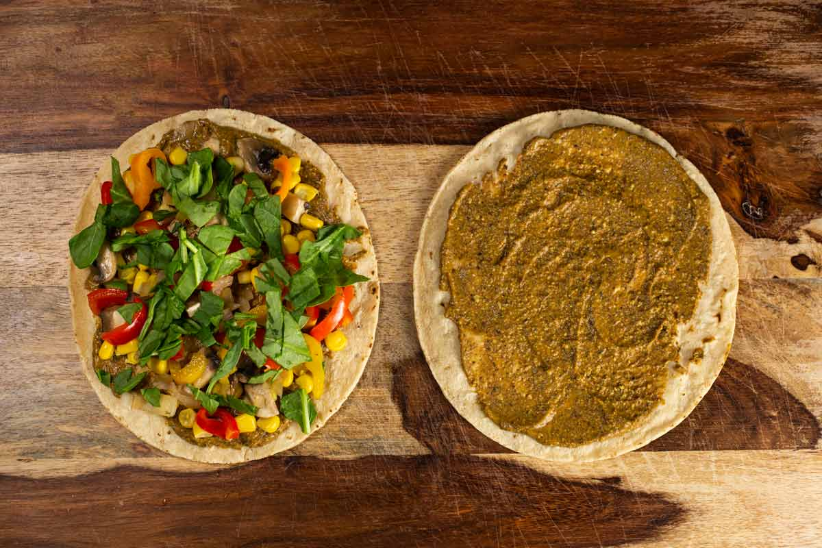 Black Bean Veggie Quesadillas | via veggiechick.com #vegan #oilfree