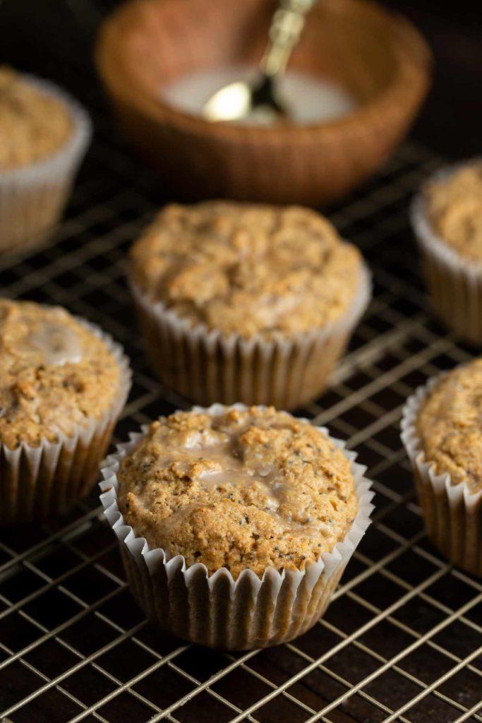 Lemon Poppy Seed Cupcakes | via veggiechick.com #vegan #oilfree