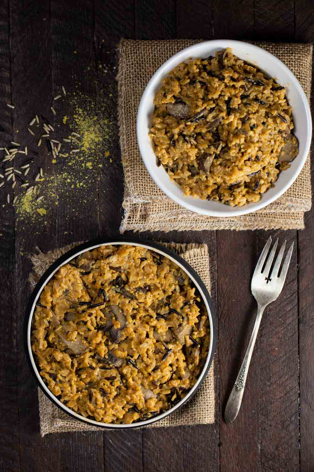 Instant Pot Mushroom Wild Rice | via veggiechick.com #vegan #oilfree