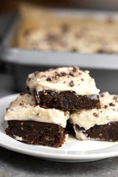 Raw Brownies with Cream Cheese