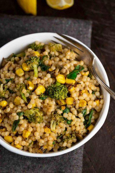 Roasted Corn Israeli Couscous
