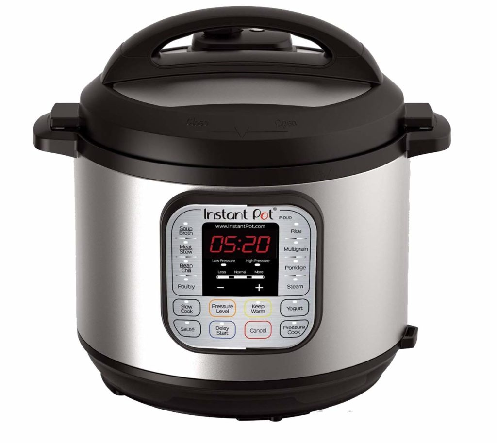 Instant Pot with lid on
