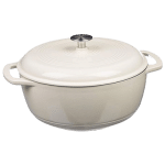 white dutch oven pot