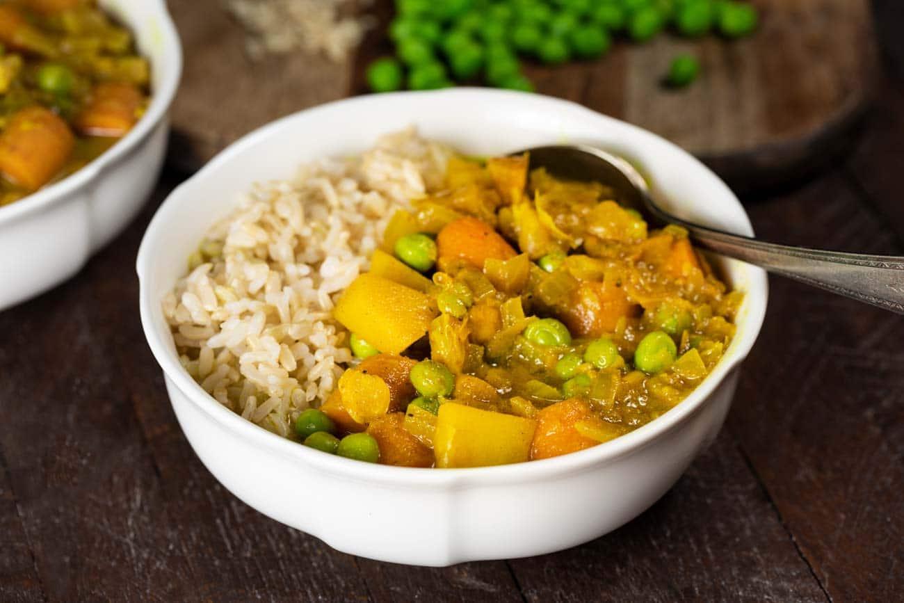 Slow Cooker Thai Yellow Curry Vegan Gluten Free