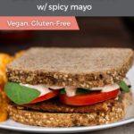 Vegan BLT sandwich on a plate