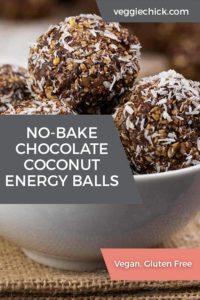 No Bake Chocolate Coconut Energy Balls