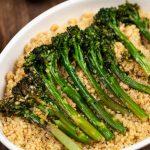 Charred Broccolini with Garlic and Quinoa