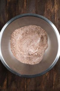 A bowl of ingredients for Sweet Potato Brownies